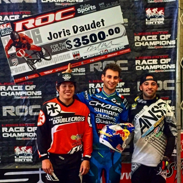 Joris Daudet wins the USA BMX Race of Champions event!