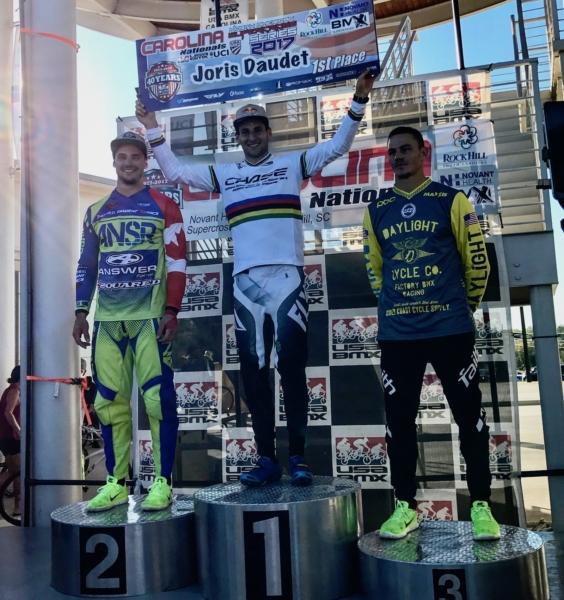 Joris Daudet wins stop #3 of the USA BMX North American SX Series at Rock Hill, SC